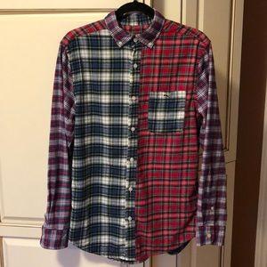 VINEYARD VINES Patchwork Plaid Flannel Shirt sz S